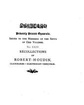 Recollections of Robert-Houdin