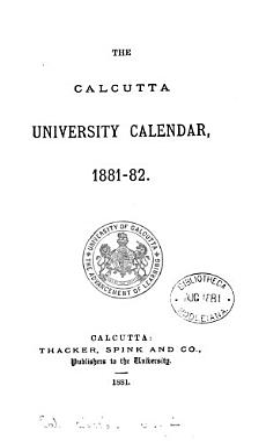 The Calcutta University Calendar PDF