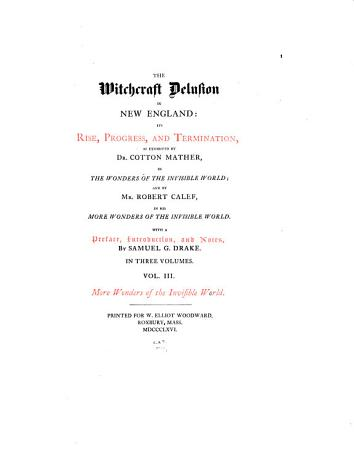 The Witchcraft Delusion in New England PDF