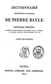 Dictionnaire historique et critique: Volume4