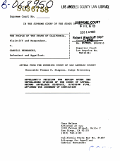 California. Supreme Court. Records and Briefs: S036758, Petition for Review