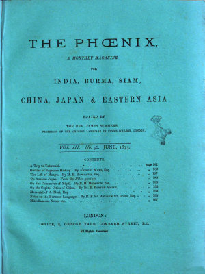 The Phoenix a Monthly Magazine for China  Japan   Eastern Asia PDF