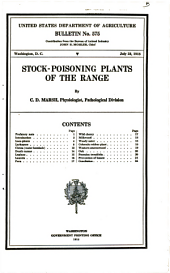 Stock-poisoning plants of the range