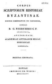 Nicetae Choniatae Historia, ex recensione Immanuelis Bekkeri...
