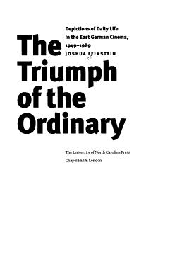 The Triumph of the Ordinary PDF