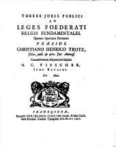 Theses Juris Publici Ad Leges Foederati