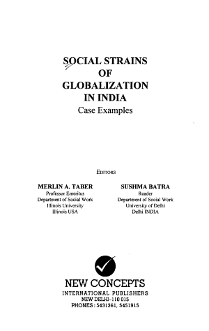 Social Strains of Globalization in India PDF