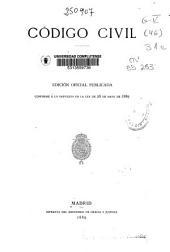 Código civil: edición oficial publicada