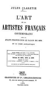 L'art et les artistes français contemporains: Avec un avant-propos sur le Salon de 1876 et un index alphabétique