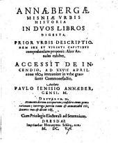 Annaebergae Misniae urbis historia