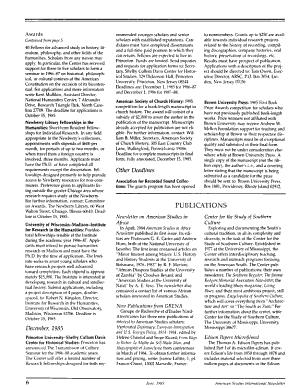 American Studies International Newsletter PDF
