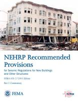 NEHRP Recommended Provisions for Seismic Regulations for New Buildings and Other Structures PDF