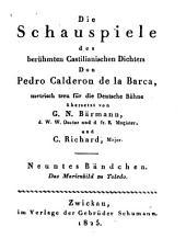 Die Schauspiele: ¬Das Marienbild zu Toledo, Band 9