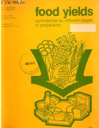 Food Yields Summarized By Different Stages Of Preparation Book PDF