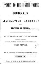Journals of the Legislative Assembly of the Province of Canada: From the 14th Day of June .. Being the First-8th Provincial Parliament ..., Volume 8, Issue 1