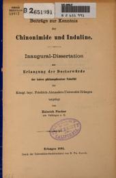 Beiträge zur Kenntnis der Chinonimide und Induline ...
