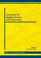 Innovation for Applied Science and Technology PDF