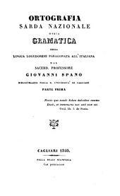 Ortografia sarda nazionale, ossia gramatica della lingua logudorese paragonata all'italiana: Volumi 1-2