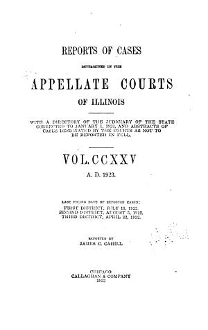 Illinois Appellate Reports PDF