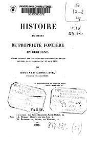 Histoire du droit de propieté foncière en occident: memoire couronné par...