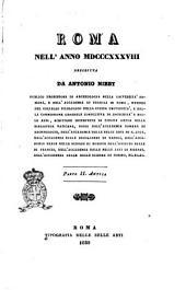 Roma nell'anno 1838 descritta da Antonio Nibby: 2 :Parte 2. Antica, Volume 2