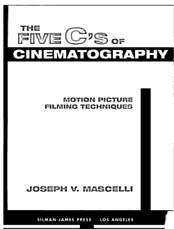 The Five C s of Cinematography PDF