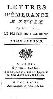 Lettres d'Émérance a Lucie: Volume2
