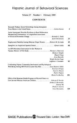 Hispanic Journal of Behavioral Sciences PDF