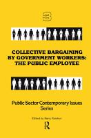 Collective Bargaining by Government Workers PDF