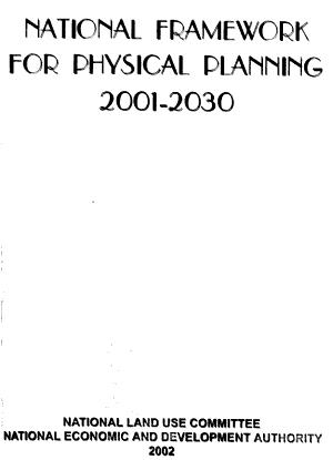 National Framework for Physical Planning  2001 2030 PDF