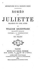 Roméo et Juliette: tragédie en cinq actes