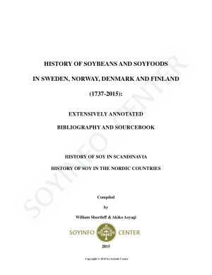 History of Soybeans and Soyfoods in Sweden  Norway  Denmark and Finland  1735 2015