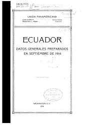 Datos generales: Ecudor