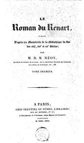Le Roman du Renart: Volume1