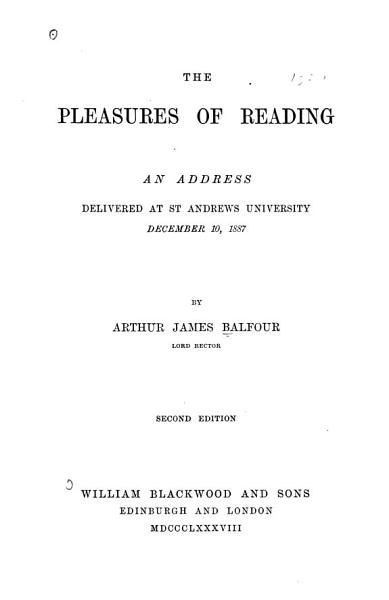 Download The Pleasures of Reading Book