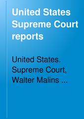 United States Supreme Court Reports: Volumes 86-89