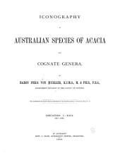 Iconography of Australian Species of Acacia and Cognate Genera: Parts 1-7