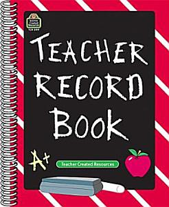 Teacher Record Book Book