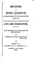 Memoir of Jemima Wilkinson PDF