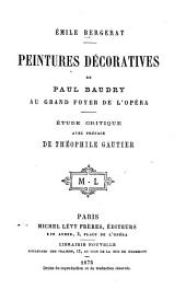 Peintures décoratives de Paul Baudry au Grand foyer de l'opéra