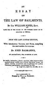 An Essay on the Law of Bailments
