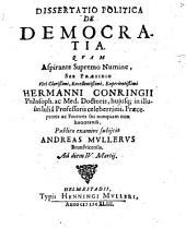 Dissertatio Politica De Democratia