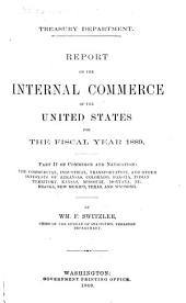 Annual Report and Statements of the Chief of the Bureau of Statistics on the Foreign Commerce and Navigation, Immigration, Tonnage of the United States for the Fiscal Year Ending ...: Part 2