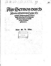 Ain Sermon durch Doctor Martinus Luther Ecclesiasti. zü Wyttemberg, Geprediget vonn dem Ewangelium Jhesus wardt vom gaist yn dye Wüsten gefyertt [et]c