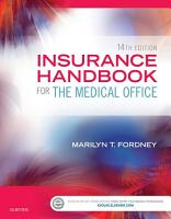 Insurance Handbook for the Medical Office   E Book PDF