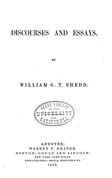 Discourses and Essays PDF