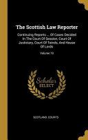 The Scottish Law Reporter