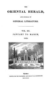 The Oriental Herald and Journal of General Literature: Volume 20