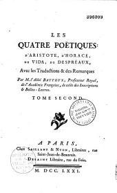 Les quatre poëtiques d'Aristote, d'Horace, de Vida, de Despréaux