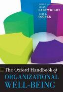 The Oxford Handbook of Organizational Well-being